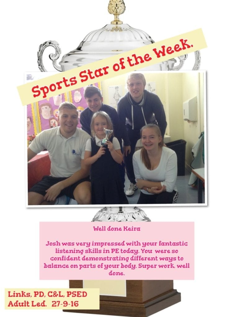EYFS Sports Star of the Week 2016